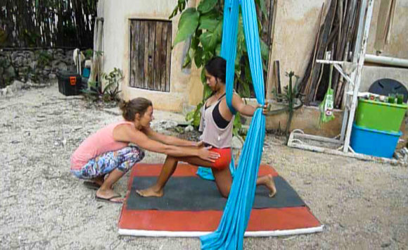 Bild Aerial Yoga Privatunterricht